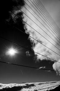 Photographie nature - Cloture au dessus des nuages