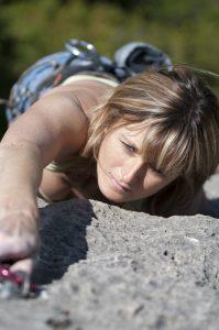 Un portrait photographique d'une athlète - escalade