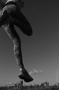 photographie noir et blanc d'événement sportif - la course a pied en Luberon
