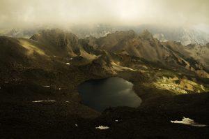 Photographie nature - Montagne d'altitude du Massif des Cerces, lac blanc