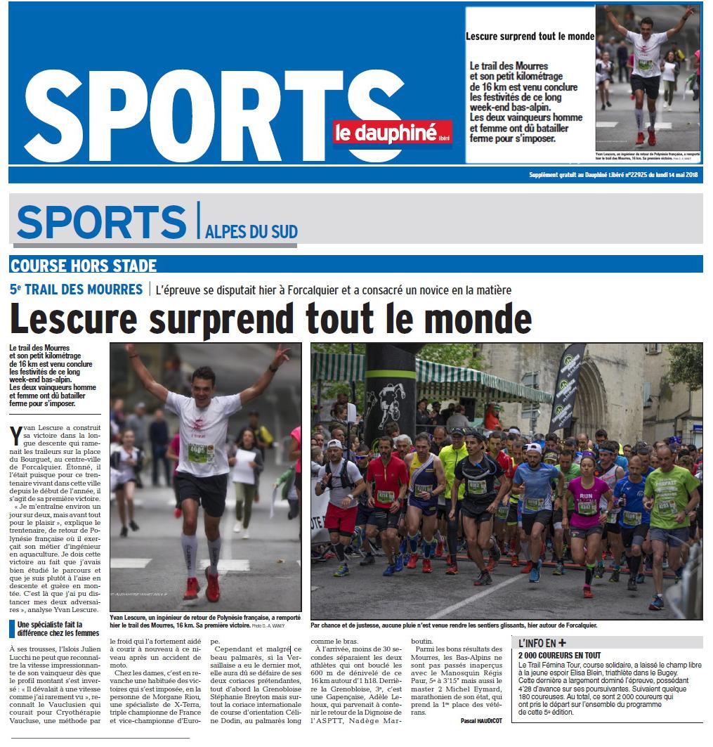 Reportages - Trail des Mourres - Article de presse le Dauphiné