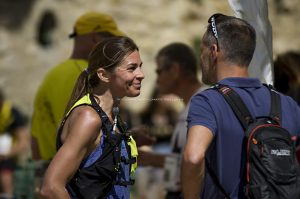 Évènement sportif - Trail de La balade de M.Favet Alexandra HEINTZ (Team Trail Running BVSPORT), se place en troisième position du poduim.