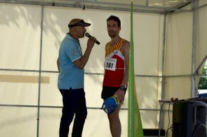 Thomas DRUAIS (Aix Athlé Provence), prend la plus haute marche du podium, du