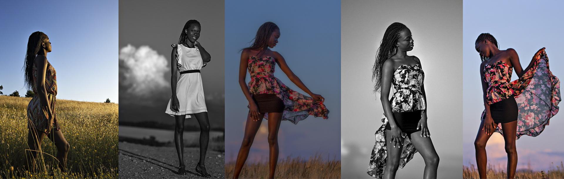 Photographie portrait - Modèle - Studio nature, avec Ndiomé