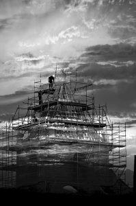 Photographie Fine Art NB - l'église Notre-Dame de Romégas