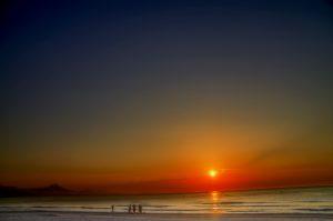Photographie sport nature - levé du soleil, pour une nage longue, sur les plages de la Costa Blanca
