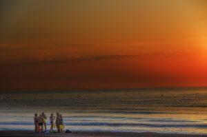 Photographie sport nature - Préparatif pour une nage longue, sur les plages de la Costa Blanca.