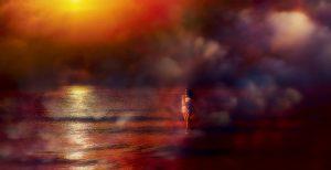 Photographie Art photographique FINE ART - Brume au crépuscule sur une mer effleurée