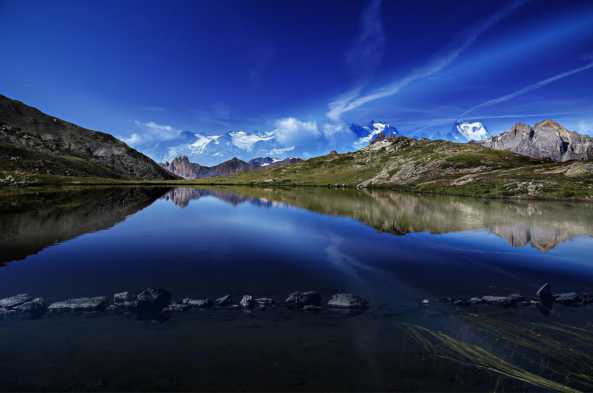 """Photographie nature lac d'altitude - Lac d'altitude et les glaciers du """"Parc des Ecrins"""" - Climat"""