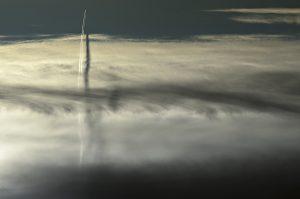 Photographie nature - Ombre aérienne verticale cyclonique